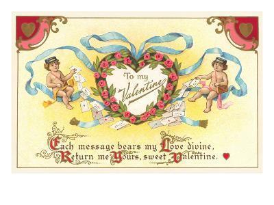 To My Valentine, Cupid Mailmen--Art Print