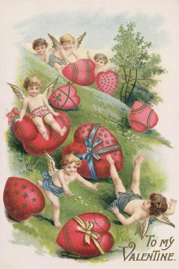 To My Valentine, Victorian Card--Giclee Print