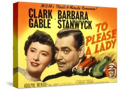 To Please a Lady, Barbara Stanwyck, Clark Gable, 1950
