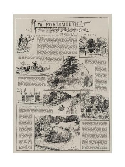 To Portsmouth with Nicholas Nickleby and Smike-Charles Joseph Staniland-Giclee Print