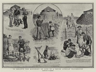 To Relieve the Monotony of Life in a South African Blockhouse-William Ralston-Giclee Print