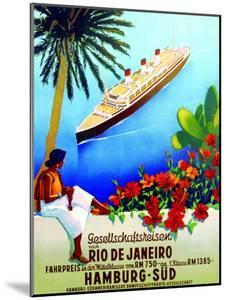 To Rio De Janeiro', Poster Advertising the Hamburg Southern Line, 1929