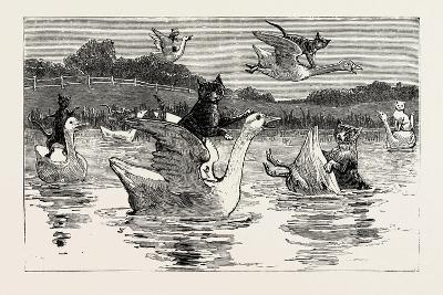 To Show Them His Poultry, He Turned Them All Loose, 1890--Giclee Print