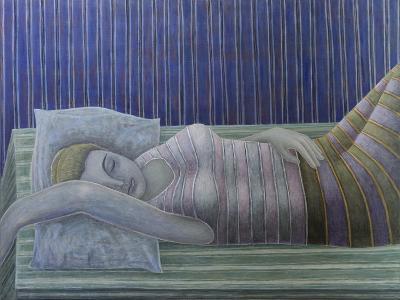 To Sleep, Perchance to Dream (Stripes), 2014-Ruth Addinall-Giclee Print