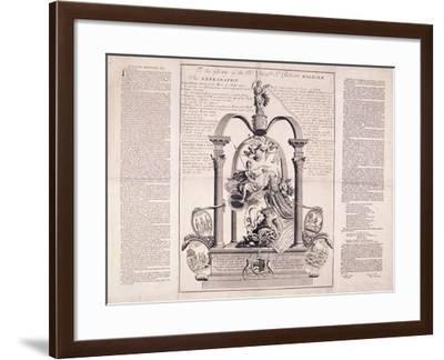 To the Glory of the Rt Honble Sr Robert Walpole, 1730-F Dumouchel-Framed Giclee Print