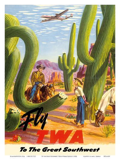 To the Great Southwest - Fly TWA Trans World Airlines-Frank Soltesz-Art Print