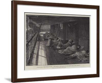To the Land of the Golden Nugget, a Hot Night in the Red Sea, on the Saloon Deck of the Oceana-William Heysham Overend-Framed Giclee Print