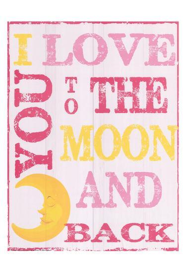 To The Moon and Back Pink-Taylor Greene-Art Print