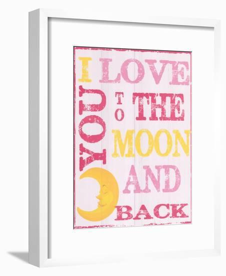 To The Moon and Back Pink-Taylor Greene-Framed Art Print