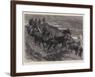 To the Rescue! a Volunteer Life-Saving Crew at Work in South Australia-John Charlton-Framed Giclee Print