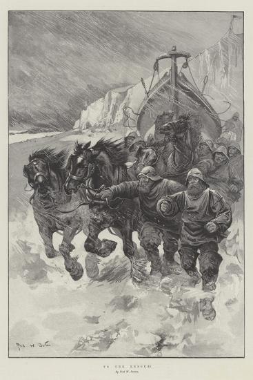 To the Rescue!-Sir Frederick William Burton-Giclee Print