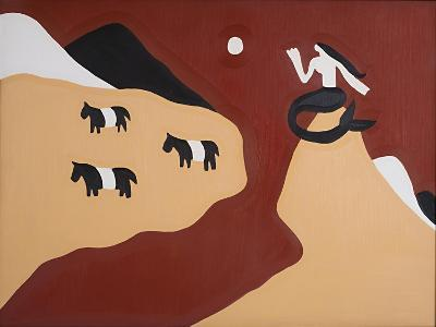 To this Land We Belong, Said the Mermaid and the Belted Galloways,1995,-Cristina Rodriguez-Giclee Print