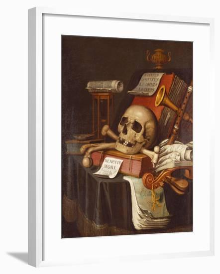 To Vanity, a Vanitas-Evert Collier-Framed Giclee Print