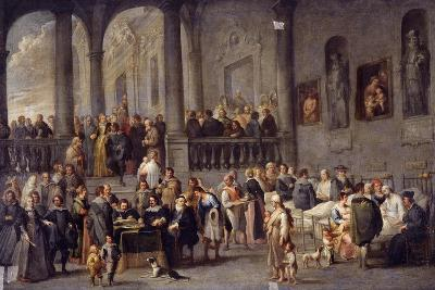 To Visit the Sick, Cycle from the Seven Works of Mercy, after 1625-Cornelis De Wael-Giclee Print