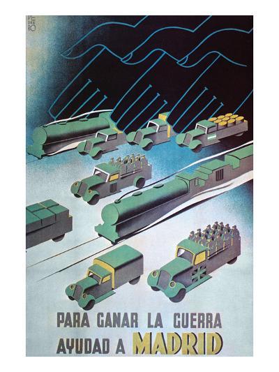 To Win the War, Help Madrid- Pedrero-Art Print