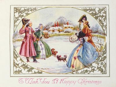 To Wish You a Happy Christmas, Victorian Card--Giclee Print