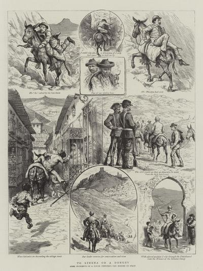 To Ximena on a Donkey-Godefroy Durand-Giclee Print