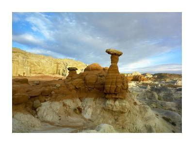 Toadstool Caprocks, Grand Staircase, Escalante National Monument, Utah-Tim Fitzharris-Art Print