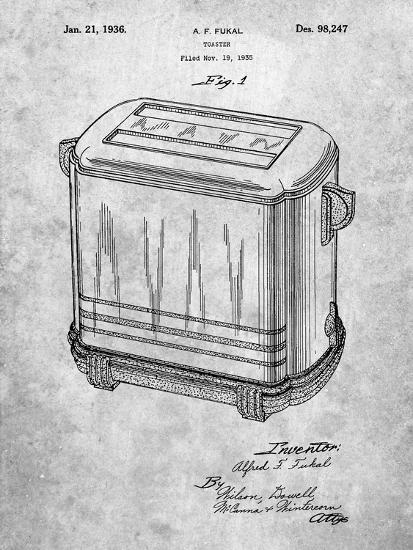 Toaster Patent Art-Cole Borders-Art Print
