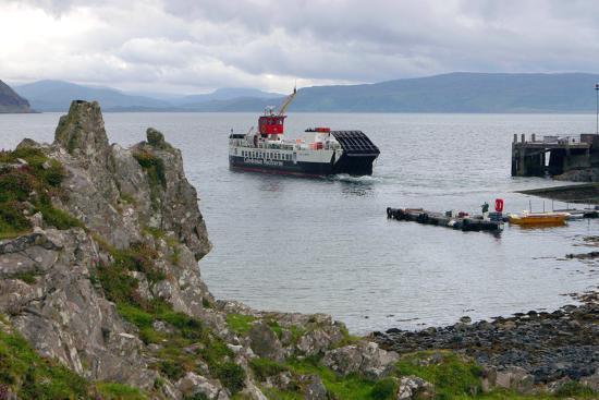 Tobermory Ferry Leaving Kinchoan, Ardnamurchan Peninsula, Highland, Scotland-Peter Thompson-Photographic Print