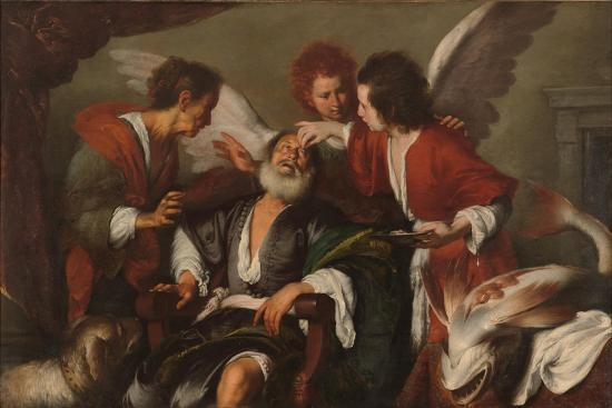 Tobias Curing His Father's Blindness, 1630-35-Bernardo Strozzi-Giclee Print