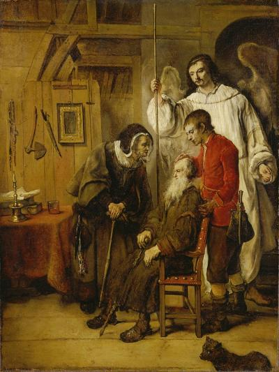 Tobias Curing His Fathers Blindness-Karel van der Pluym-Giclee Print