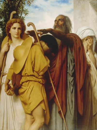 Tobias Receives His Father's Blessing, 1860-William Adolphe Bouguereau-Giclee Print