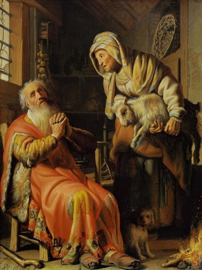 Tobit and Anna-Rembrandt van Rijn-Giclee Print