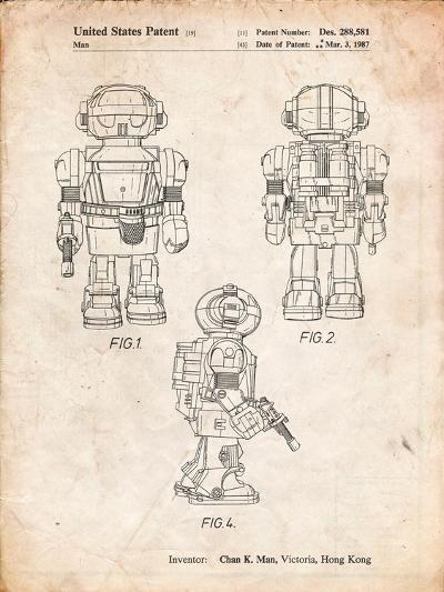 Toby Talking Toy Robot Patent-Cole Borders-Art Print