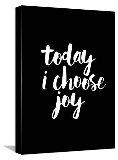 Today I Choose Joy BLK-Brett Wilson-Stretched Canvas Print