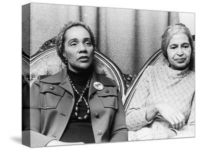 Coretta Scott King and Rosa Parks