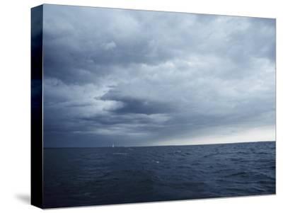 A Cloudy Sky Hangs over Lake Michigan