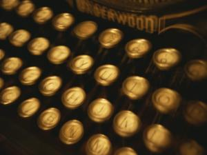 Blurred View of the Keys of an Old Underwood Typewriter by Todd Gipstein