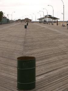 Boardwalk at Coney Island, Brooklyn, New York by Todd Gipstein