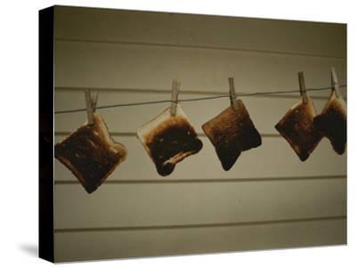 Burnt Toast Hanging on Clothesline
