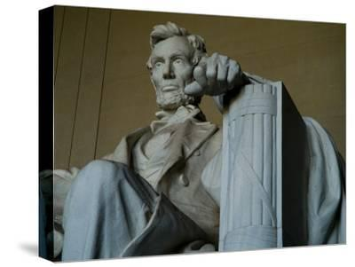Close View of the Statue of Abraham Lincoln at the Lincoln Memorial