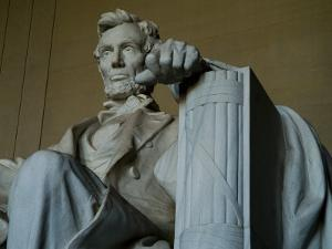 Close View of the Statue of Abraham Lincoln at the Lincoln Memorial by Todd Gipstein