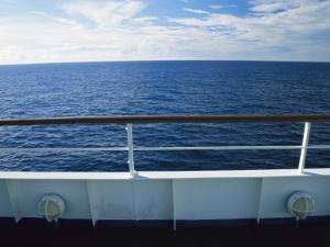 Deck of a Cruise Ship in the South Pacific Ocean by Todd Gipstein