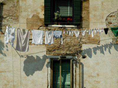 Laundry Hanging on a Line in Venice, Italy