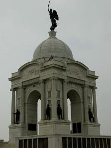 Pennsylvania Monument at the Gettysburg National Military Park by Todd Gipstein