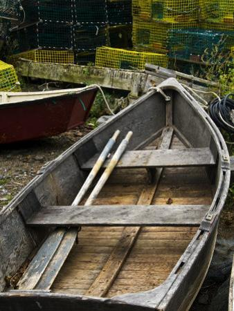 Rowboats and Piles of Lobster Traps by Todd Gipstein