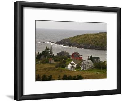 View of Homes and Rugged Coastline of Monhegan Island
