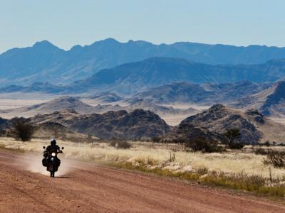 Motorbike Riding Through the Tarisberg Range