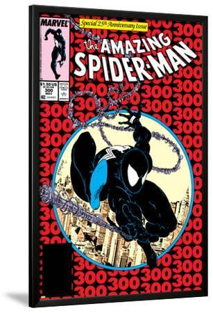 Amazing Spider-Man No.300 Cover: Spider-Man Fighting and Flying