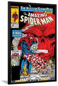 Amazing Spider-Man No.325 Cover: Spider-Man and Red Skull by Todd McFarlane
