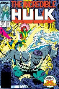 Incredible Hulk No.337 Cover: Hulk, Cyclops, Grey, Jean, Iceman and X-Factor by Todd McFarlane