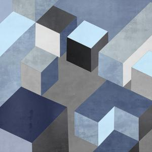 Cubic in Blue I by Todd Simmions