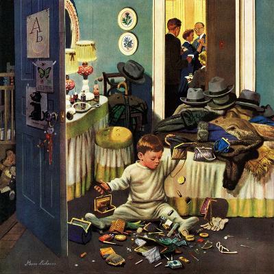 """Toddler Empties Purses"", November 22, 1952-Stevan Dohanos-Giclee Print"
