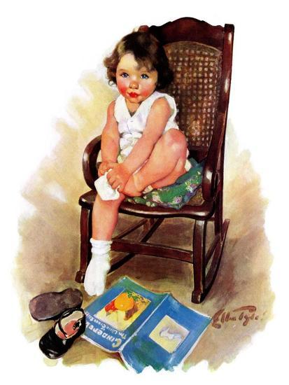 """Toddler in Rocker,""November 12, 1932-Ellen Pyle-Giclee Print"