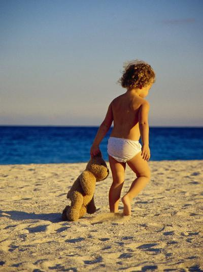 Toddler on the Beach, Miami, FL-Robin Hill-Photographic Print